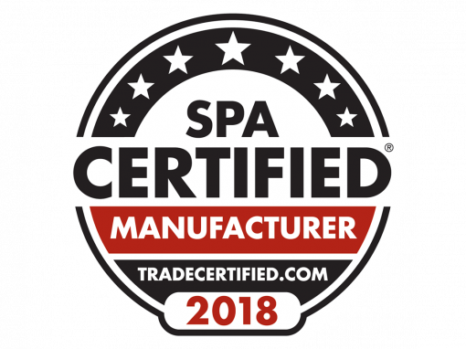 2018 Certified Spa Manufacturer